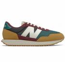 New Balance 237 男鞋 慢跑 休閒 復古 麂皮 拼接 撞色 棕 綠 紅【運動世界】MS237HR1