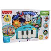 【費雪Fisher Price】 可愛動物小鋼琴健身器 三合一 踢琴踢踢樂 遊戲墊 (綠色) 彌月送禮100%正品