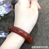天然红玛瑙手镯女玉镯子红色手镯玉髓玛瑙镯子细条女款玉石手镯 居家物語