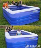 超大號兒童充氣游泳池加厚嬰兒寶寶家用游泳桶大型成人小孩戲水池 YXS優家小鋪