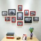 11框簡約式創意黑白組合照片墻客廳臥室相片墻掛墻裝飾畫