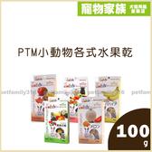 寵物家族-PTM小動物各式水果乾 100g