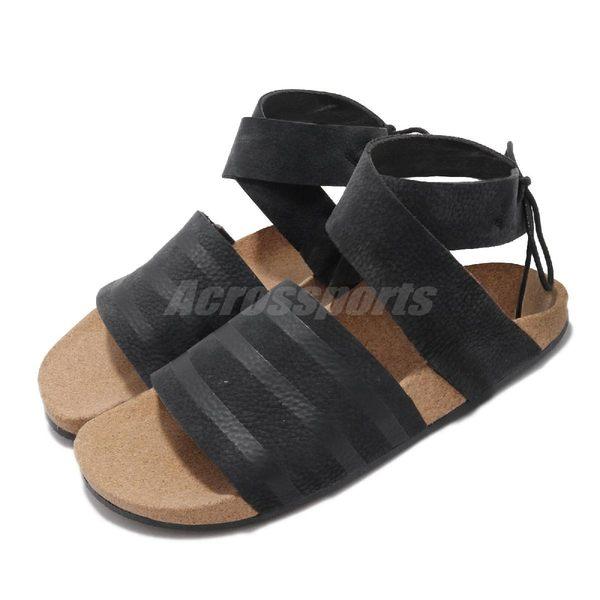 adidas 涼鞋 Adilette Ankel Wrap 黑 女鞋 涼拖鞋 【PUMP306】 CM8167