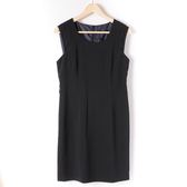 洋裝【MASTINA】韓系削肩抓摺洋裝-黑 10501