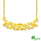 幸運草金飾-春風明媚-黃金項鍊  開運 招財 黃金首飾