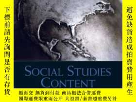 二手書博民逛書店Social罕見Studies Content For Elementary And Middle School