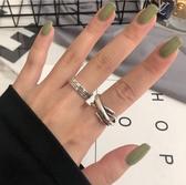 網紅簡約復古戒指女羅馬數字INS風星期開口指環百搭個性男士配飾