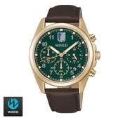 進擊的巨人 x WIRED聯名錶 里維聯名三眼皮帶錶 39mm綠 AY8008X1 公司貨   名人鐘錶高雄門市