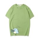 可愛恐龍短袖上衣親子裝(小孩/綠色)