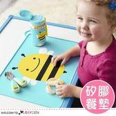 兒童動物圖案矽膠餐墊 防水防滑可折疊 攜帶方便