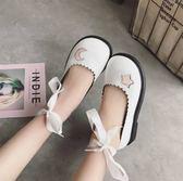 牛津鞋 春夏款淺口單鞋洛麗塔英倫學生可愛平底系帶休閒女鞋學院風小皮鞋 芭蕾朵朵