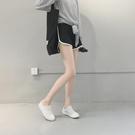 真理褲 休閒運動短褲女新款正韓秋季寬鬆顯瘦百搭打底褲外穿闊腿褲子-Ballet朵朵