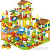 兒童積木玩具 兒童積木拼裝玩具3-6周歲1-2益智拼插寶寶大顆粒女男孩子相容 七色堇