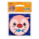 《享亮商城》61808 (粉紅色)環狀膠-企鵝造型螢光便條紙