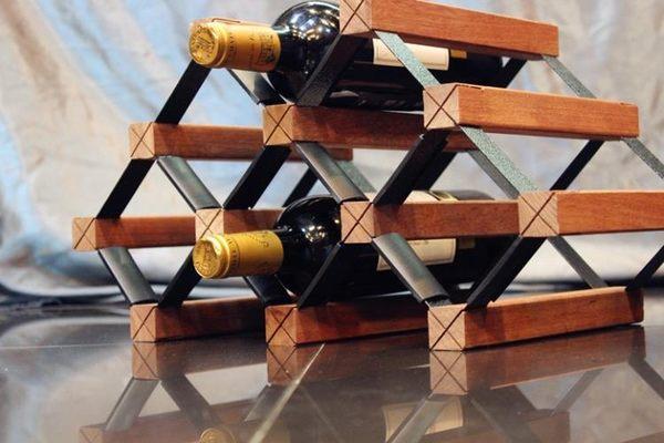 紅酒架7瓶 創意紅酒架 創新酒架 紅木酒架 SSJJG【時尚家居館】