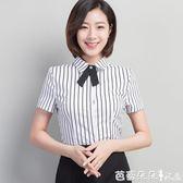 短袖職業襯衫 2018春款上衣女韓版女裝雪紡白襯衫長袖女式職業寬鬆休閒春裝襯衣 芭蕾朵朵