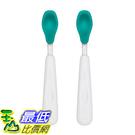 [107美國直購] OXO Tot 不鏽鋼軟矽膠湯匙2入組 綠藍紅三色 軟質餵食湯匙 Feeding Spoon Set With Soft Silicone