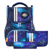 【TigerFamily】經典公爵超輕量護脊書包-迷幻銀河系(含文具袋+鉛筆盒)