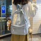 帆布後背包 書包女韓版原宿ulzzang高中學生背包初中生大容量ins風帆布後背包 萊俐亞