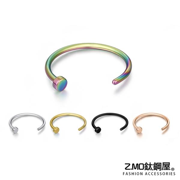 [Z-MO鈦鋼屋]316L鈦鋼材質/釘子造型多用途特殊環/好友禮物推薦/簡約中性風格/單個價【ECS104】