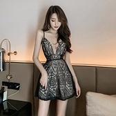 夜店女裝裙法式夜店性感復古氣質露背修身初戀吊帶洋裝女裝夏季新款