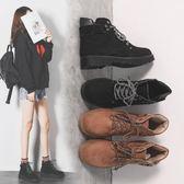 短靴女2019新款秋冬季韓版平底馬丁靴女英倫風百搭加絨靴子女學生
