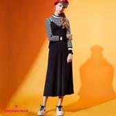 【SHOWCASE】韓版修身蝴蝶結造型連身吊帶寬褲
