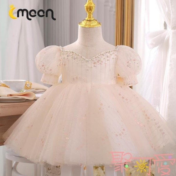 周歲女寶寶禮服夏季兒童鋼琴演奏女童百天公主裙春款洋氣【聚可愛】