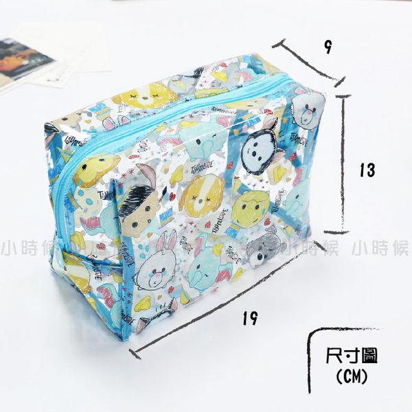 小時候創意屋 迪士尼 正版授權 TSUM TSUM 透明包 (大) 收納包 化妝包 防水包 鉛筆盒 筆袋 比基尼包