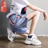 牛仔短褲女夏2019新款韓版高腰寬鬆五分褲學生bf風顯瘦百搭直筒褲