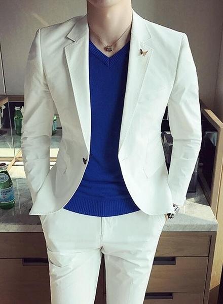 找到自己品牌 韓國男 輕柔面料西裝 修身西裝 西裝外套 單件外套