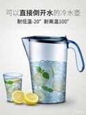 夏季涼水壺耐高溫塑料冰箱冷水杯夏天水壺家用大容量耐熱  LannaS