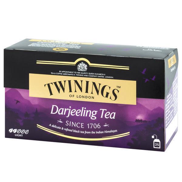 英國《TWININGS 唐寧》 DARJEELING TEA 歐式大吉嶺茶包 2*25入/盒