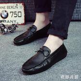 豆豆鞋男2019新款夏季休閒男士懶人社會休閒皮鞋 QW3901【衣好月圓】