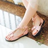 正韓夏季平底水鉆公主鞋時尚兒童魚嘴潮防滑鞋子女童涼鞋