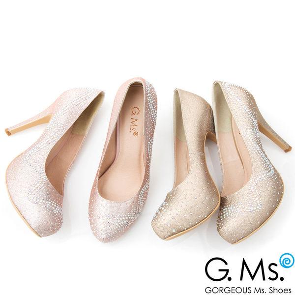 G.Ms. *MIT花嫁系列-水鑽金蔥婚宴新娘高跟鞋*金色