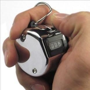 【金屬四位元計數器】金屬機械四位元數計數器 念佛手動機械計數器 算人頭 賣門票 NF