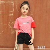 女童短袖T恤2019夏裝新款兒童純棉8洋氣小衫12歲女孩15中大童上衣xy1252【原創風館】