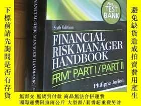 二手書博民逛書店Financial罕見Risk Manager Handbook Plus Test Bank:FRM Part