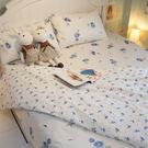 【預購】藍莓花園 D1 雙人床包三件組 100%精梳棉 台灣製