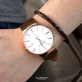 范倫鐵諾˙古柏 簡約時刻皮革腕錶  經典簡約 可當對錶【NEV23】