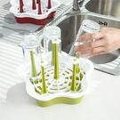 創意居家時尚簡約梅花型塑膠杯架瀝水架【AN SHOP】