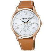 【人文行旅】Agnes b. | 法國簡約雅痞 FBSD955 太陽能時尚腕錶 36mm