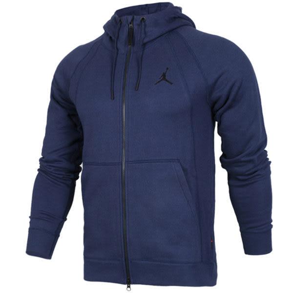 Nike Jordan Sportswear 深藍 黑Logo 內刷毛 長袖 連帽外套 棉 # 860197-410☆speedkobe☆