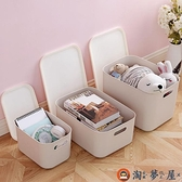 【四件套】衣物收納箱整理箱有蓋衣服儲物箱收納盒套裝【淘夢屋】