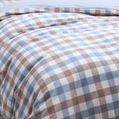 日式色織水洗棉被套 藍色款