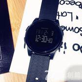 潮流韓版簡約運動男女手表時尚電子表數字式防水夜光超薄學生手表