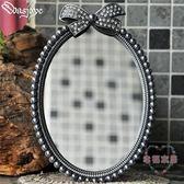 (聖誕交換禮物)復古歐式小鏡子簡約創意單面可愛台式公主化妝鏡美容梳妝鏡