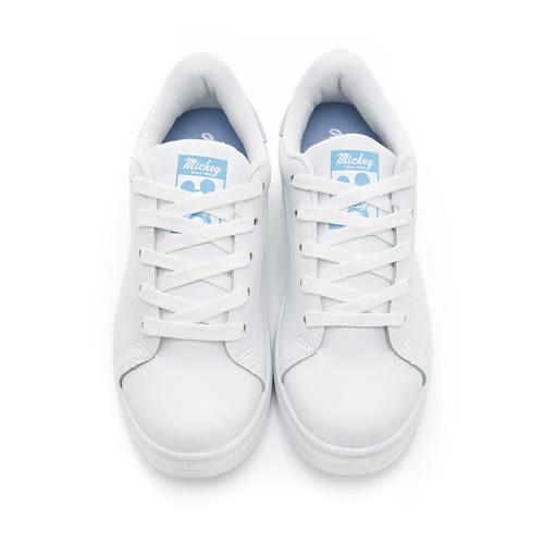 Disney 沁甜戀曲 簡約厚底綁帶休閒鞋-白藍