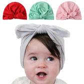 純色蝴蝶結印度帽頭巾 頭巾 童帽 遮陽帽